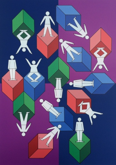 Vasarely, Victor: Gymnasts