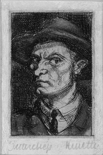 Kmetty, János: Self-portrait with hat