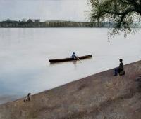 Kiss Márta: Träumer am Donauufer