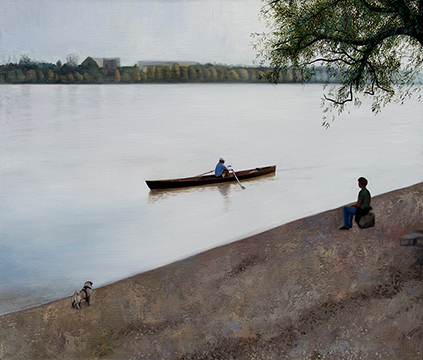 Kiss Márta: Contemplative on the Danube River