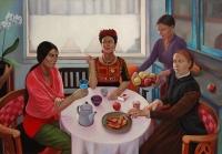 Kiss Márta: Festőnők vendégségben