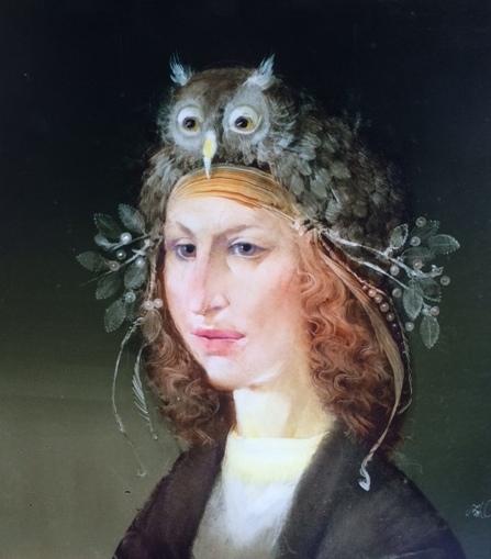 Szász, Endre: Lady with owl