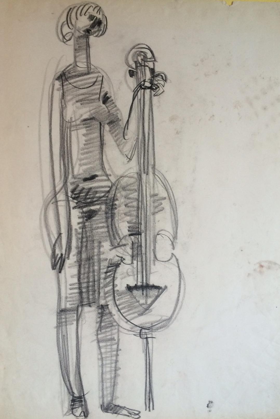 Somogyi, József: Frau mit Cello
