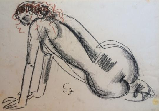 Somogyi, József: Back nude