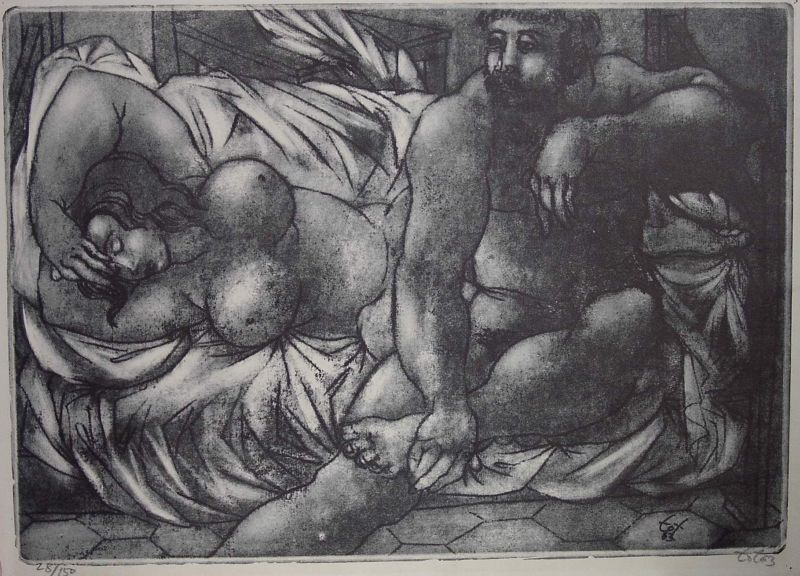 Amerigo Tot: Couple in the bed