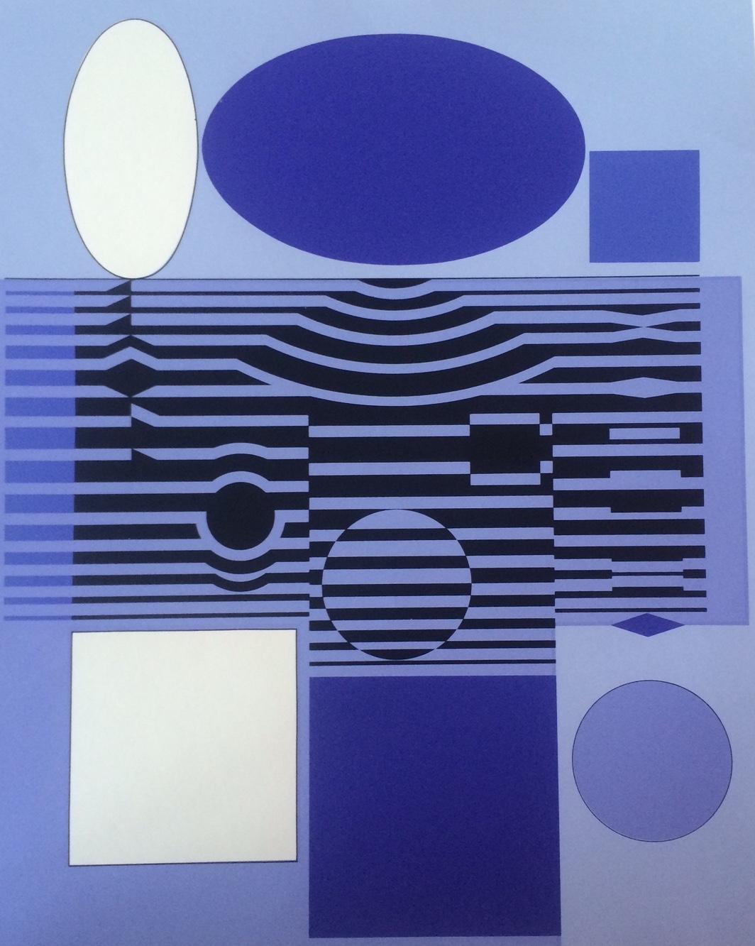 Vasarely, Victor: Hommage Béla Bartók I.