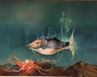 Szász Endre - festmények: A hal