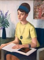 Mácsai István: Lány sárga ruhában