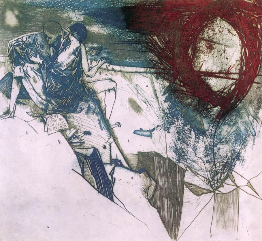 Kondor, Béla: Illustration for William Blakenulls poem