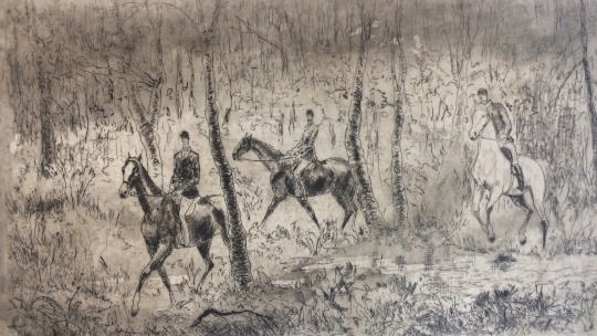 Láng Rudolf: Erdei lovasok