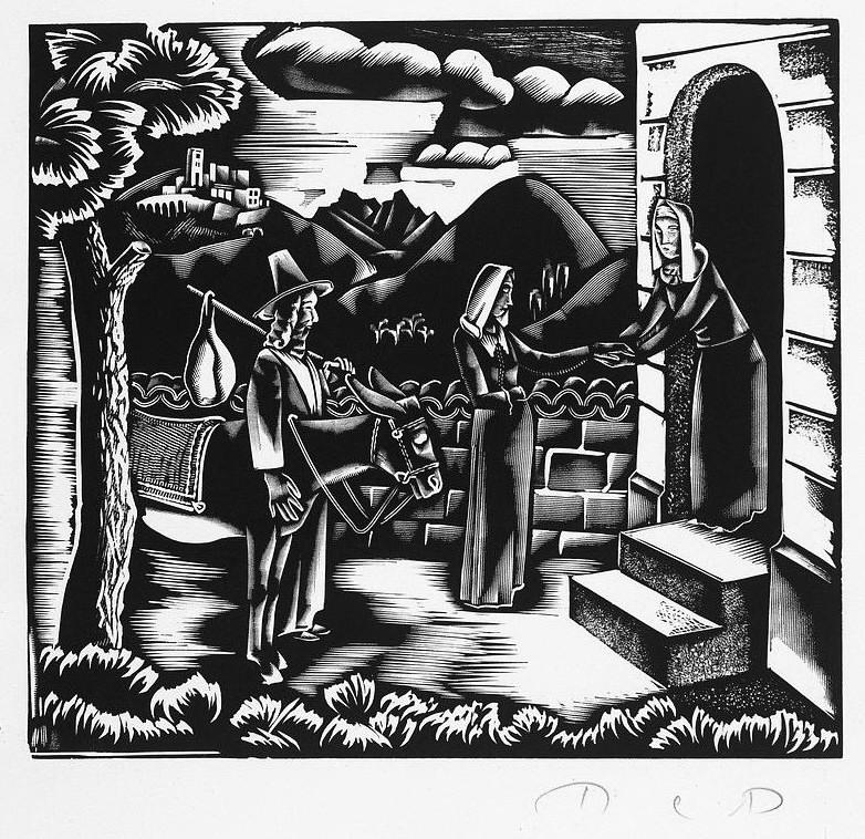 Molnár,  C. Pál: Meeting of Mary and Elisabeth