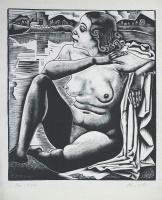 Molnár C. Pál: Ülő akt