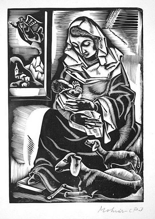 Molnár,  C. Pál: Madonna and child
