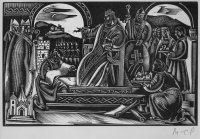Molnár,  C. Pál: Saint Stephan among the beadles