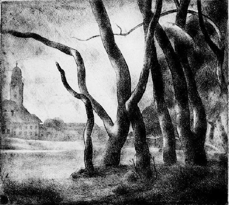 Patkó, Károly: Landschaft mit Nagybánya