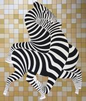 Vasarely, Victor: Golden zebras