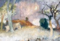 Szőnyi, István: Yard in the Moonlight