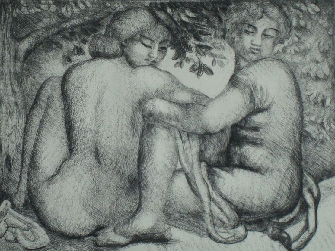Aristide Maillol: Two women among the leaves
