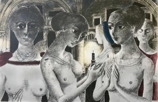 Paul Delvaux: Három grácia