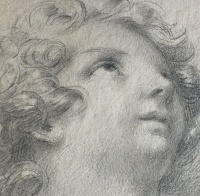 Barabás Miklós: Angyal (tanulmányrajz)