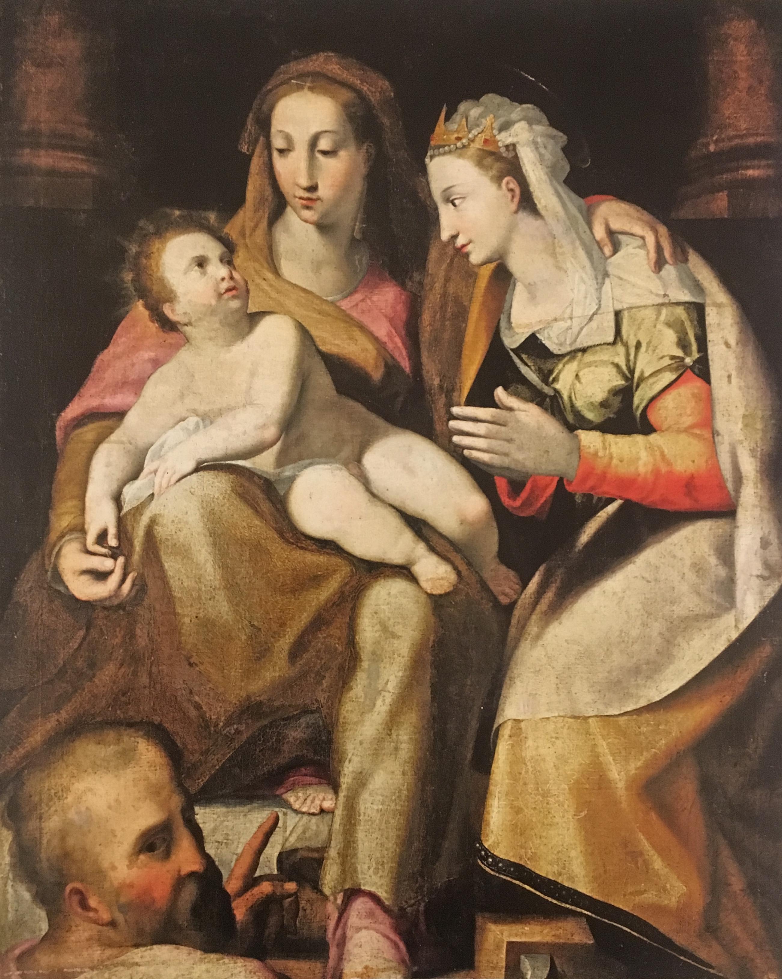 Lorenzo Sabatini: Alexandriai Szent Katalin misztikus eljegyzése