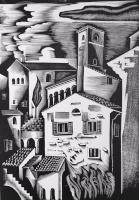 Molnár, C. Pál: Italienische Stadt