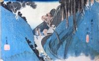 Hiroshige: Tōkaidō's Fiftythree Stations - Station 22.