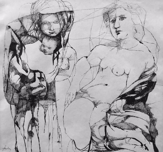 Szalay Lajos: Anya és gyermeke