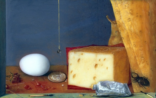 Hús Zoltán: Still life with cheese