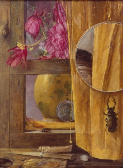 Hús Zoltán: Still life with mirror