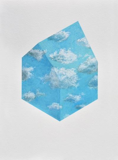 Szenteleki Gábor: Felhőház I.- Hommage Magritte