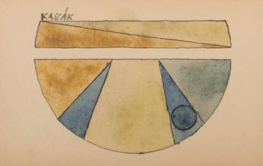 Kassák Lajos: Absztrakt kompozíció