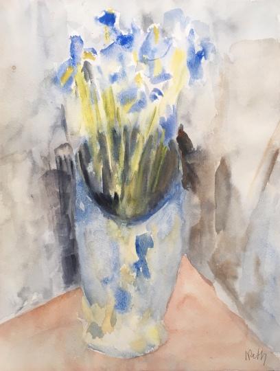 Réth Alfréd: Váza íriszekkel