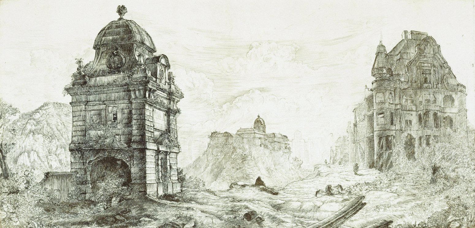 Takáts, Márton: Budapest, hommage á Piranesi, Franc Joseph bridge