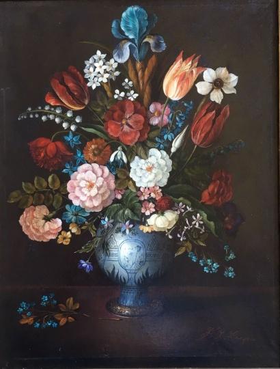 Oskar F. Knapp: Virágcsendélet