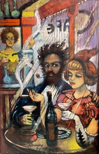 Remsey Jenő György: Kávézó Párizsban