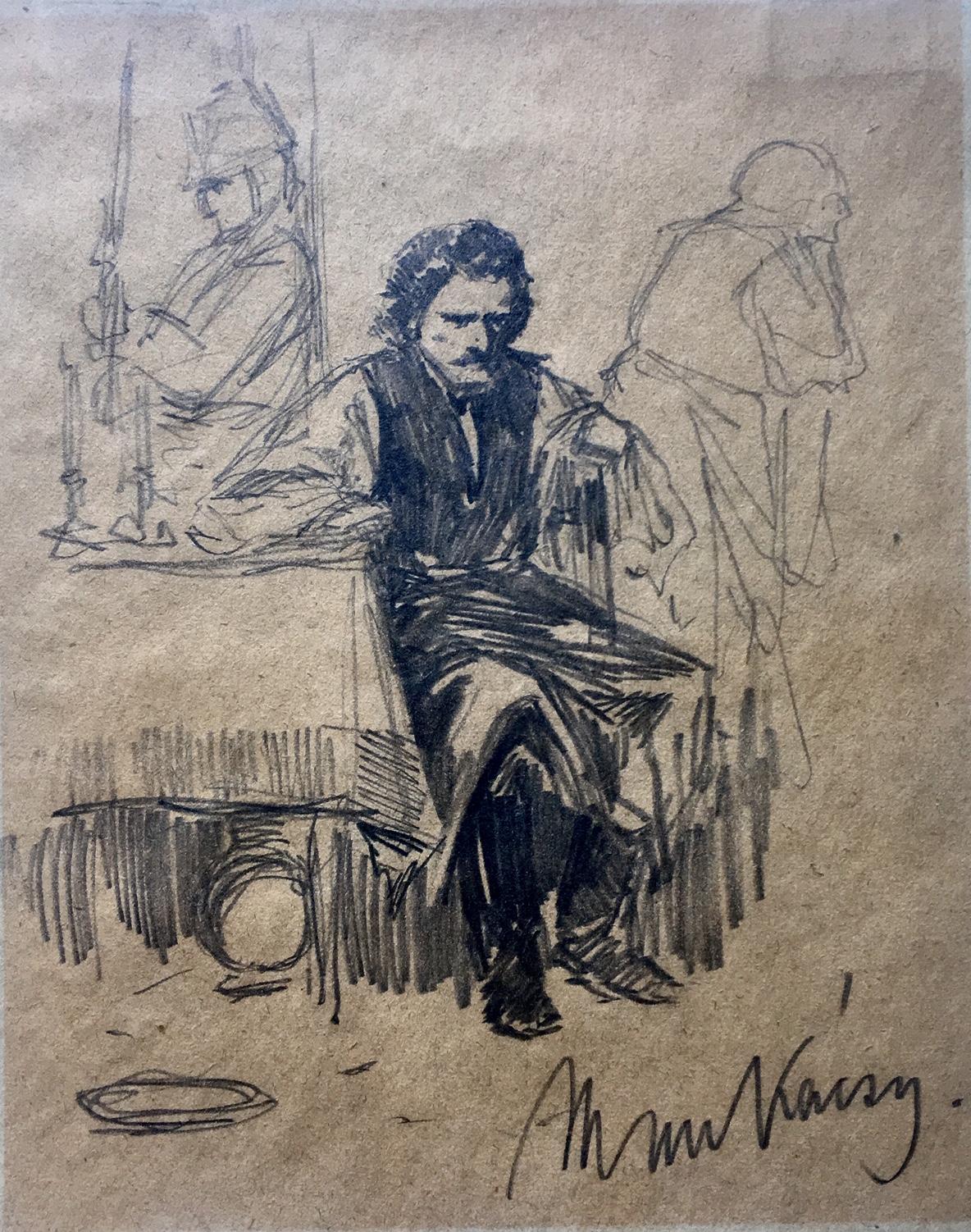 Munkácsy, Mihály: The condemned (study)