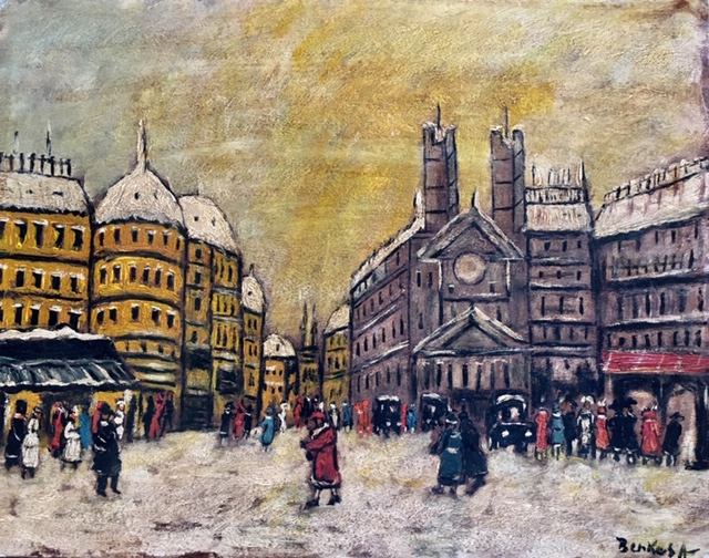 Berkes Antal: Winterliche Stadtlandschaft