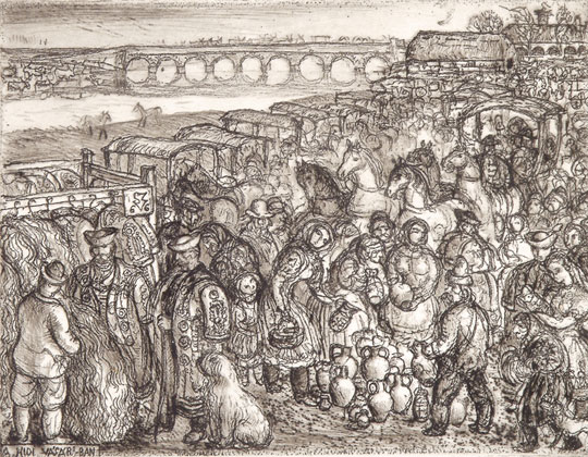Szabó, Vladimir: Markt auf der Brücke