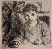 Szőnyi, István: Reading boy