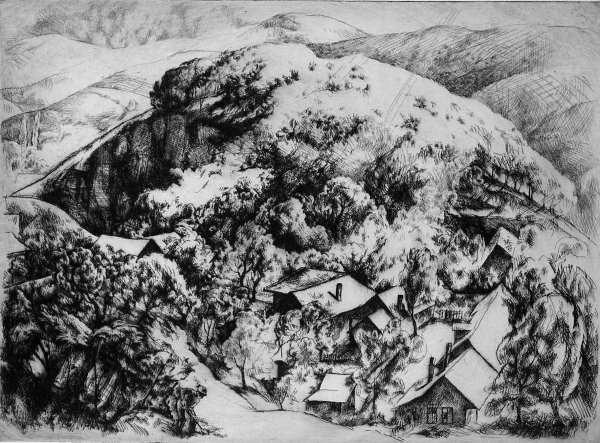 Szőnyi, István: Houses between the hills