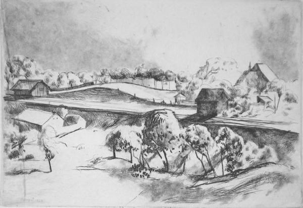 Szőnyi, István: Trees beside the rails
