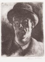 Szőnyi, István: Self-portrait with a hat