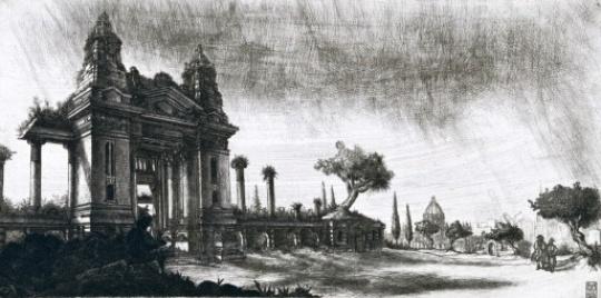 Takáts, Márton: Budapest, hommage á Piranesi, Tőzsde palota