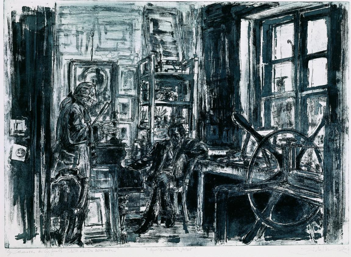 Takáts, Márton: G. Casanova és G. Gould Takáts Márton műtermében