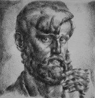 Aba Novák, Vilmos: Bearded self-portrait