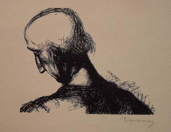 Barcsay, Jenő: Head of a woman