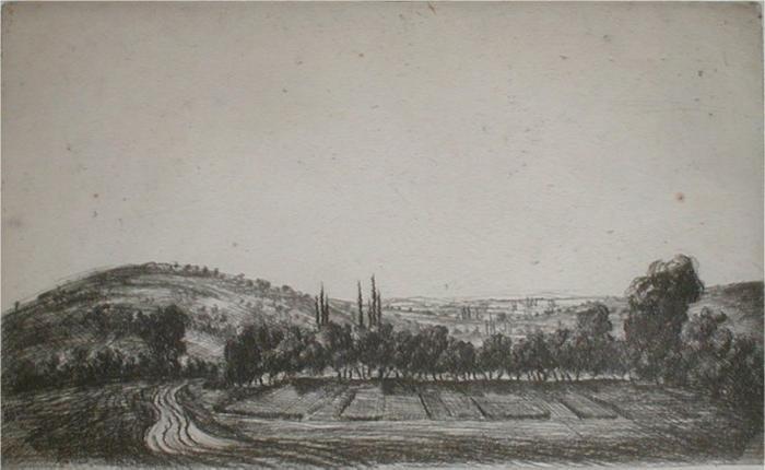 Barcsay, Jenő: Hügelige Landschaft